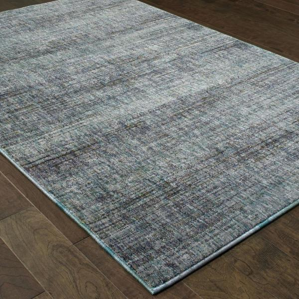 Unbranded Audrey Blue Grey 9 Ft X 12 Ft Solid Area Rug 001120 The Home Depot