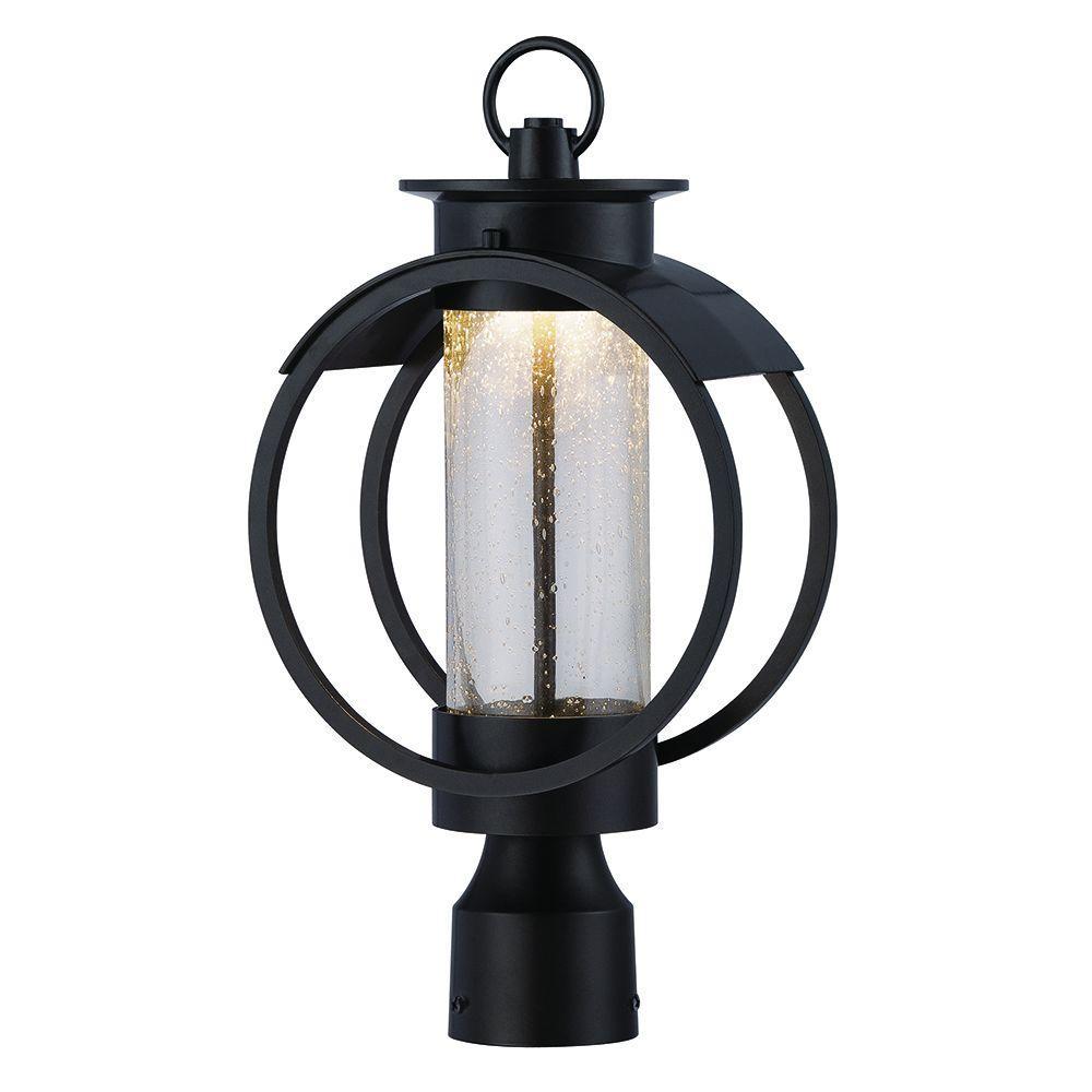Arbor 9 in. Burnished Bronze LED Post Lantern