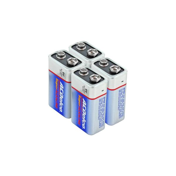 Super Alkaline 9-Volt Battery (4-Pack)