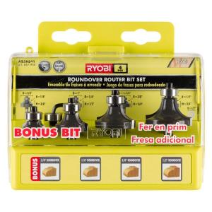 Ryobi 32 in x 16 in intermediate router table a25rt02g the roundover router bit set 4 piece greentooth Choice Image