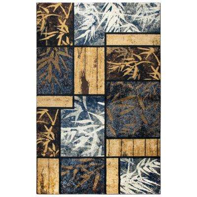 Xceed Gold Plaid Machine Made 5 ft. 2 in. x 7 ft. 3 in. Area Rug