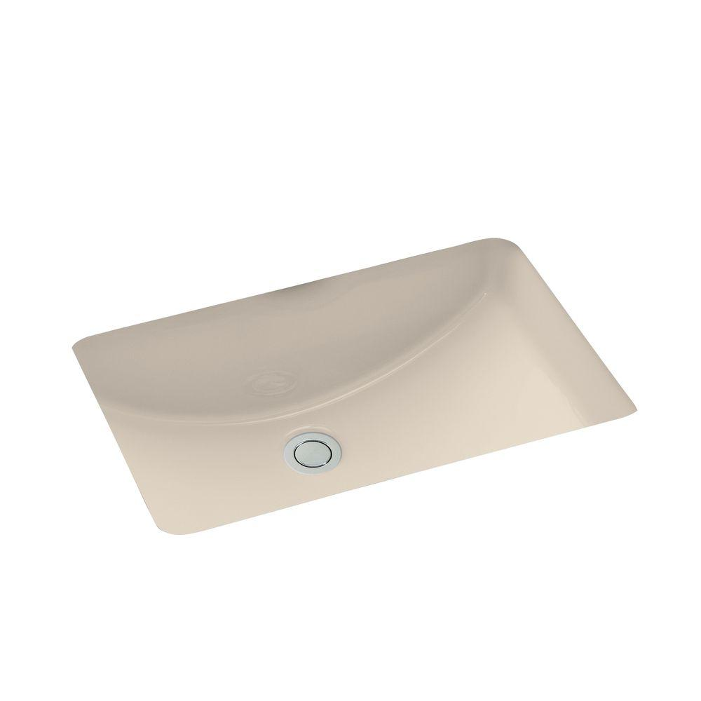 "Ladena 20 7/8"" Undermount Bathroom Sink in Sandbar with Overflow Drain"