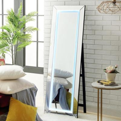 Isla LED Full Length Cheval Floor Standing Mirror with Plug,