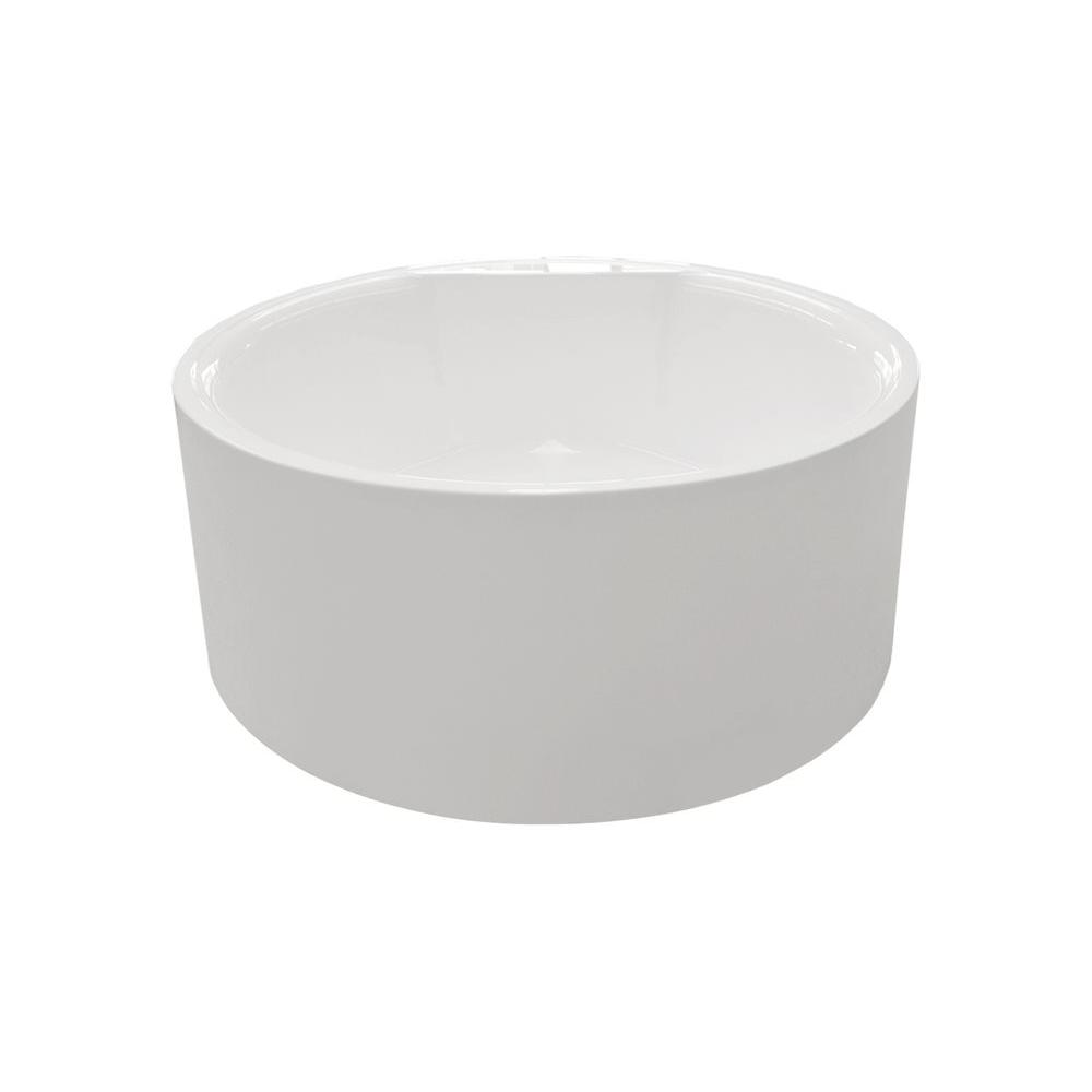 Aquatica PureScape 308A 4.51 ft. Acrylic Double Ended Flatbottom Non-Whirlpool Bathtub in White