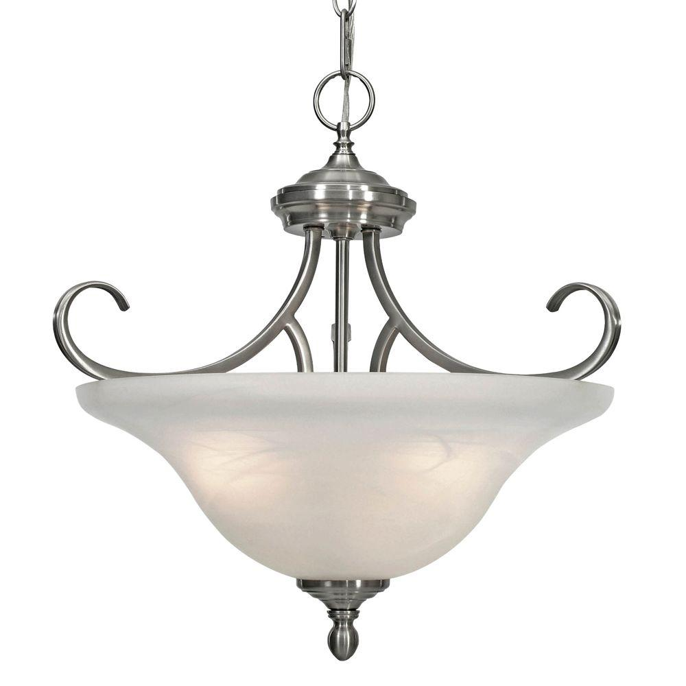 Minka Lavery Harbour Point 3-Light Liberty Gold Semi-Flush ...