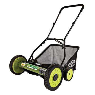 Mow Joe 18 in. Manual Push Walk Behind Reel Mower with Catcher