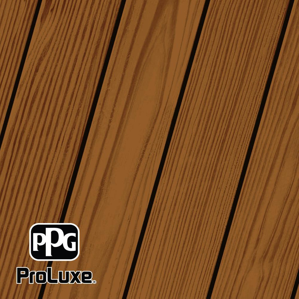 PPG ProLuxe 1 gal. Butternut SRD Exterior Transparent Matte Wood Finish