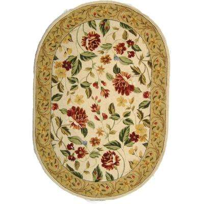 Chelsea Ivory/Beige 8 ft. x 10 ft. Oval Area Rug