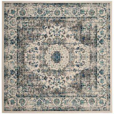 Evoke Gray Ivory 9 Ft X Square Area Rug