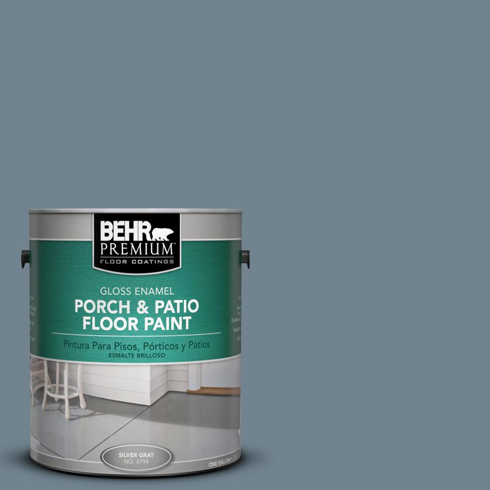 1 gal. #N480-5 Adirondack Blue Gloss Porch and Patio Floor Paint