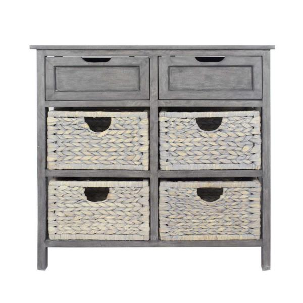 Shelly Grey Wood Cabinet with a Drawer