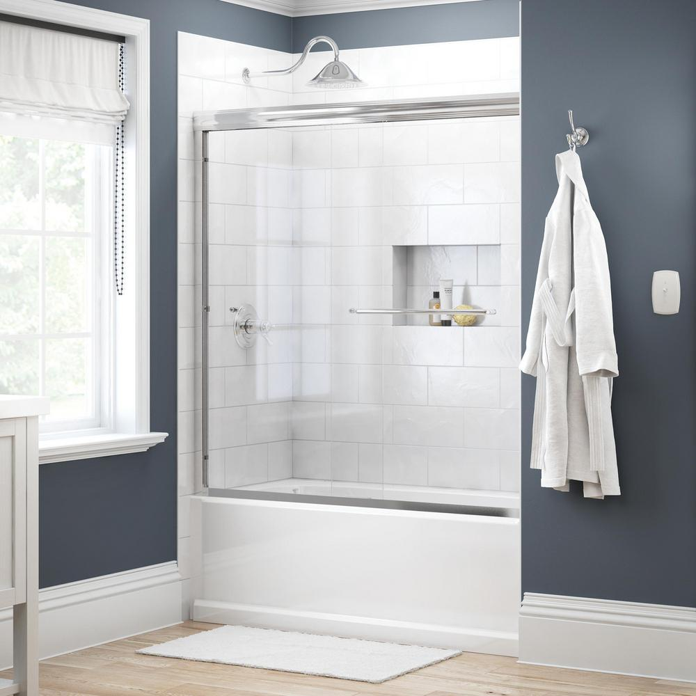 decorative windows for bathrooms frosted vinyl for.htm delta simplicity 60 in x 58 1 8 in semi frameless traditional  semi frameless