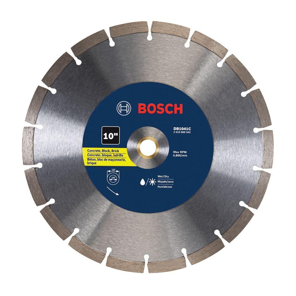 10 in. Premium Segmented General Purpose Diamond Circular Saw Blade for Cutting Concrete, Masonry Block, Brick and Stone