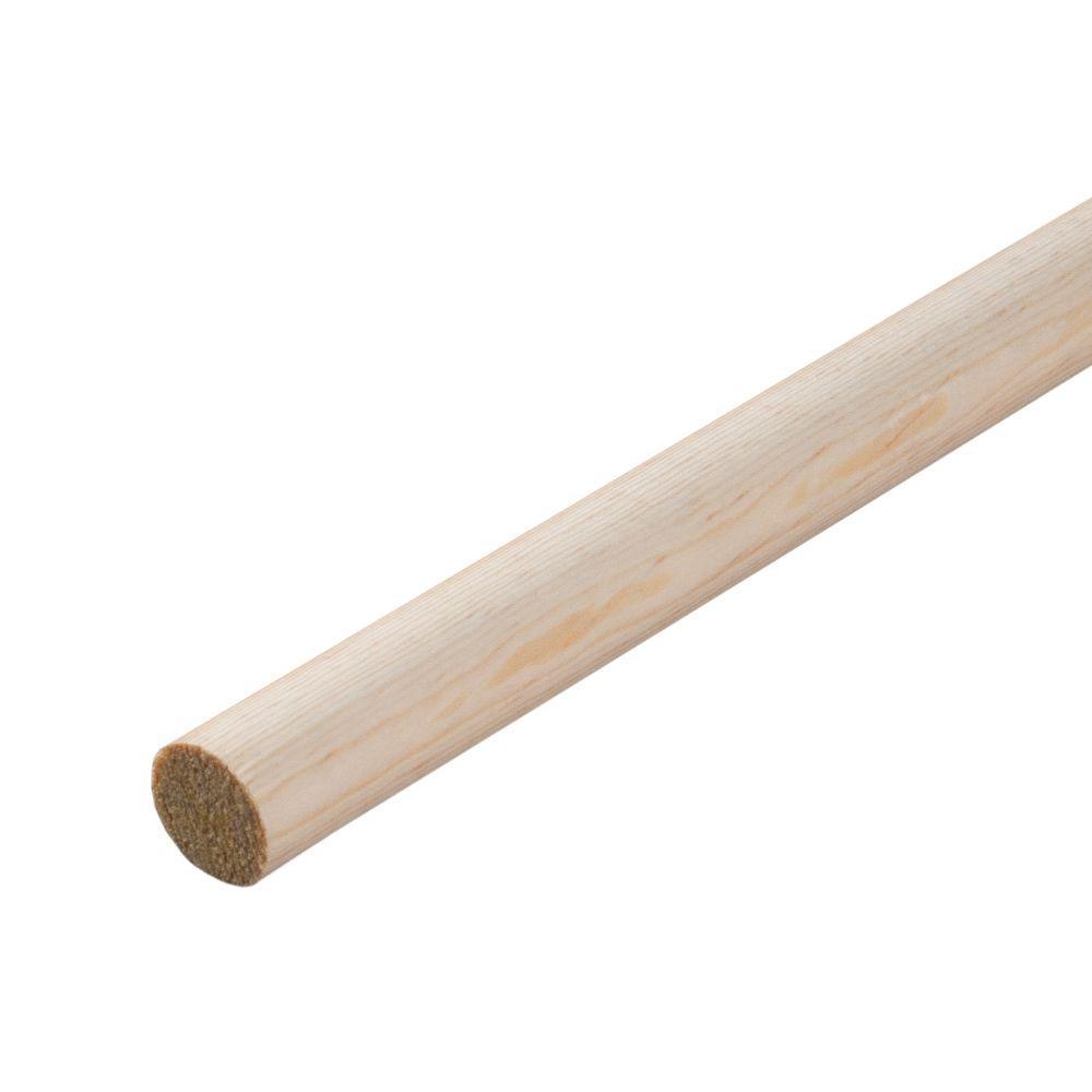 3/4 in. x 48 in. Hardwood Round Dowel