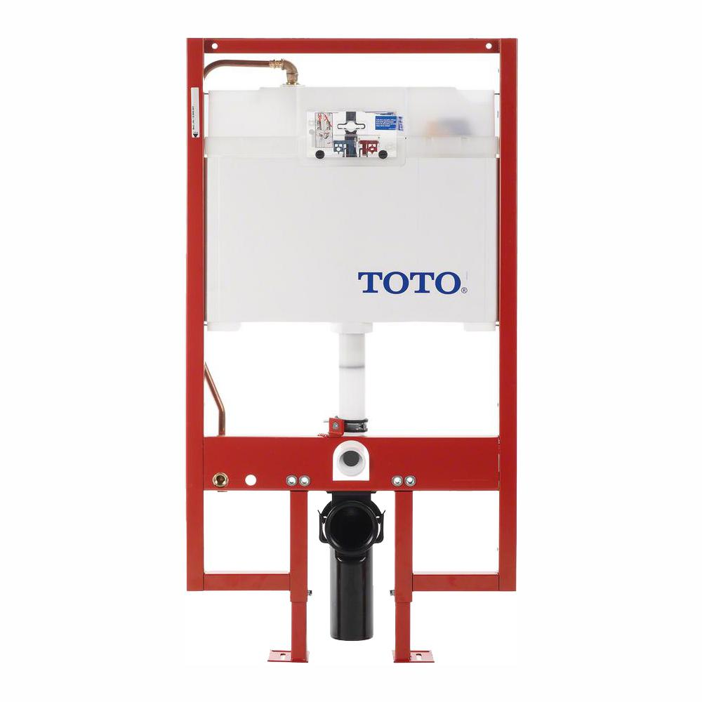 TOTO In-Wall 0.9/1.6 GPF Dual Flush Toilet Tank Only with Copper Supply Line in Cotton White