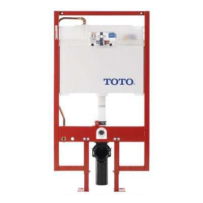 In-Wall 0.9/1.6 GPF Dual Flush Toilet Tank Only with Copper Supply Line in Cotton White