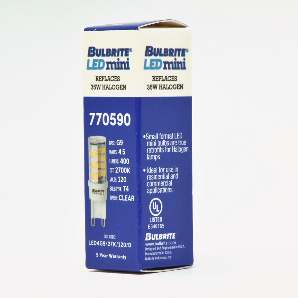 Pack Bi T4 Dimmable Warm Light White2 Equivalent Ping9Led Bulb Watt 35 Bulbrite pSUzVqM