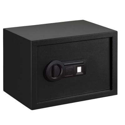 0.56 cu. ft. Steel Personal Safe with Biometric Lock, Black