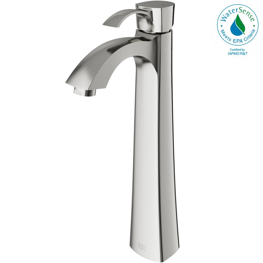 vigo bathroom faucets. VIGO Otis Single Hole 1-Handle Bathroom Faucet In Brushed Nickel Vigo Faucets