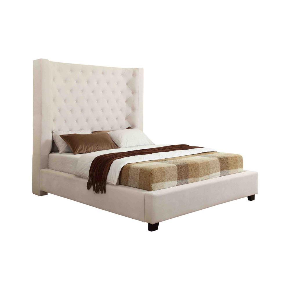 Empress Cream King High Profile Platform Bed
