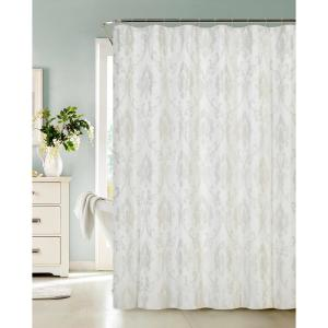 Vienna 72 inch Ivory Fabric Shower Curtain with Lurex Ivory by