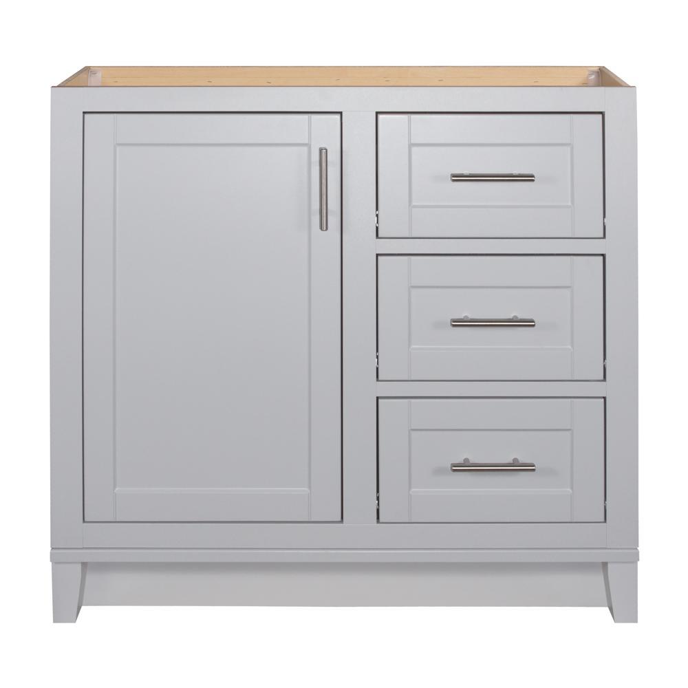 Kinghurst 36 in. W x 21 in. D x 33.5 in. H Bathroom Vanity Cabinet Only in Dove Gray