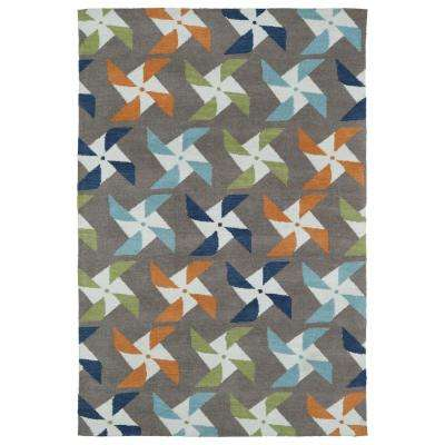 Lily and Liam Taupe 4 ft. x 6 ft. Area Rug