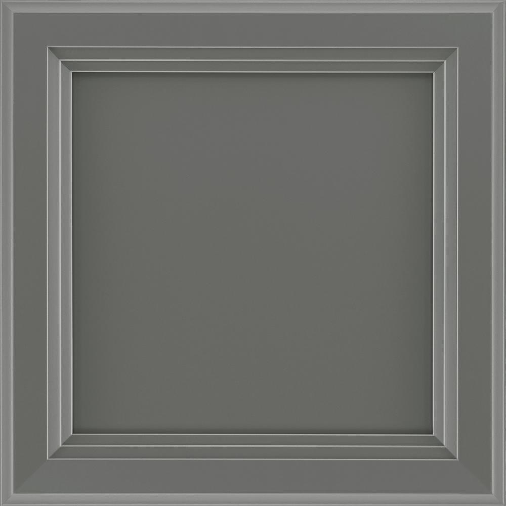 12-7/8 in. x 13 in. Cabinet Door Sample in Ashland Painted Boulder
