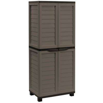 2 ft. 5.5 in. x 1 ft. 8 in. x 5 ft. 11 in. Plastic Mocha/Brown Storage Cabinet with 4 Shelves