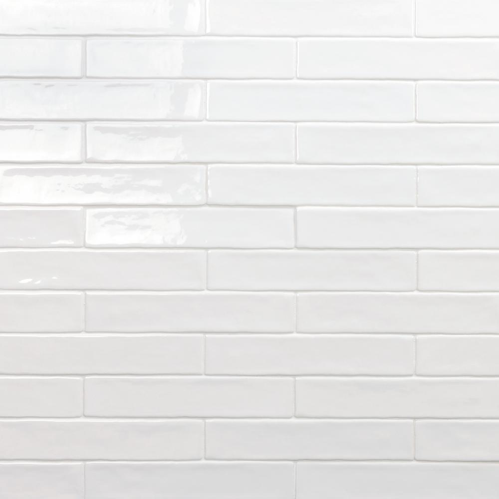 Ivy Hill Tile Newport White 2 In X 10 11mm Polished Ceramic Subway Wall 40 Pieces 5 38 Sq Ft Box