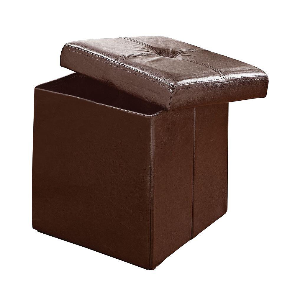 Simplify Chocolate Storage Ottoman F 0625 Choco The Home