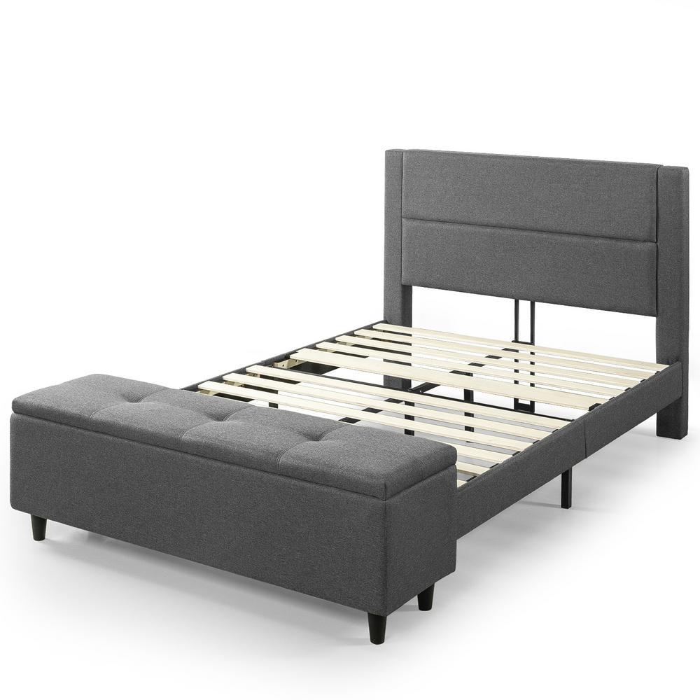 Wanda Platform Full Bed with Storage Footboard