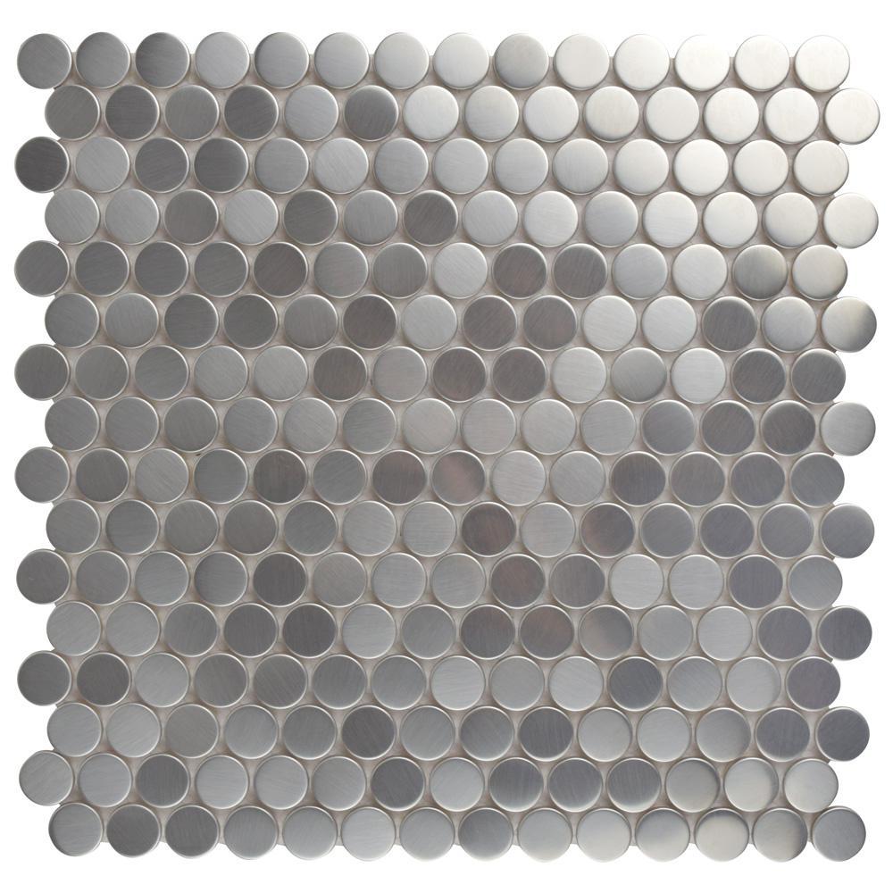 Merola Tile Meta Penny Round 11 3 4 In