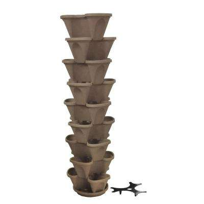 12 in. Self Watering Stone Stacking Planter Set (9-Pack)