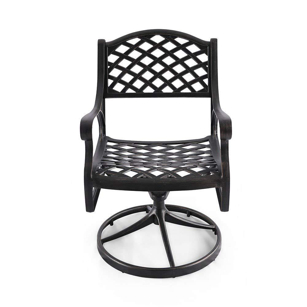 Tethys Swivel Aluminum Outdoor Dining Chair