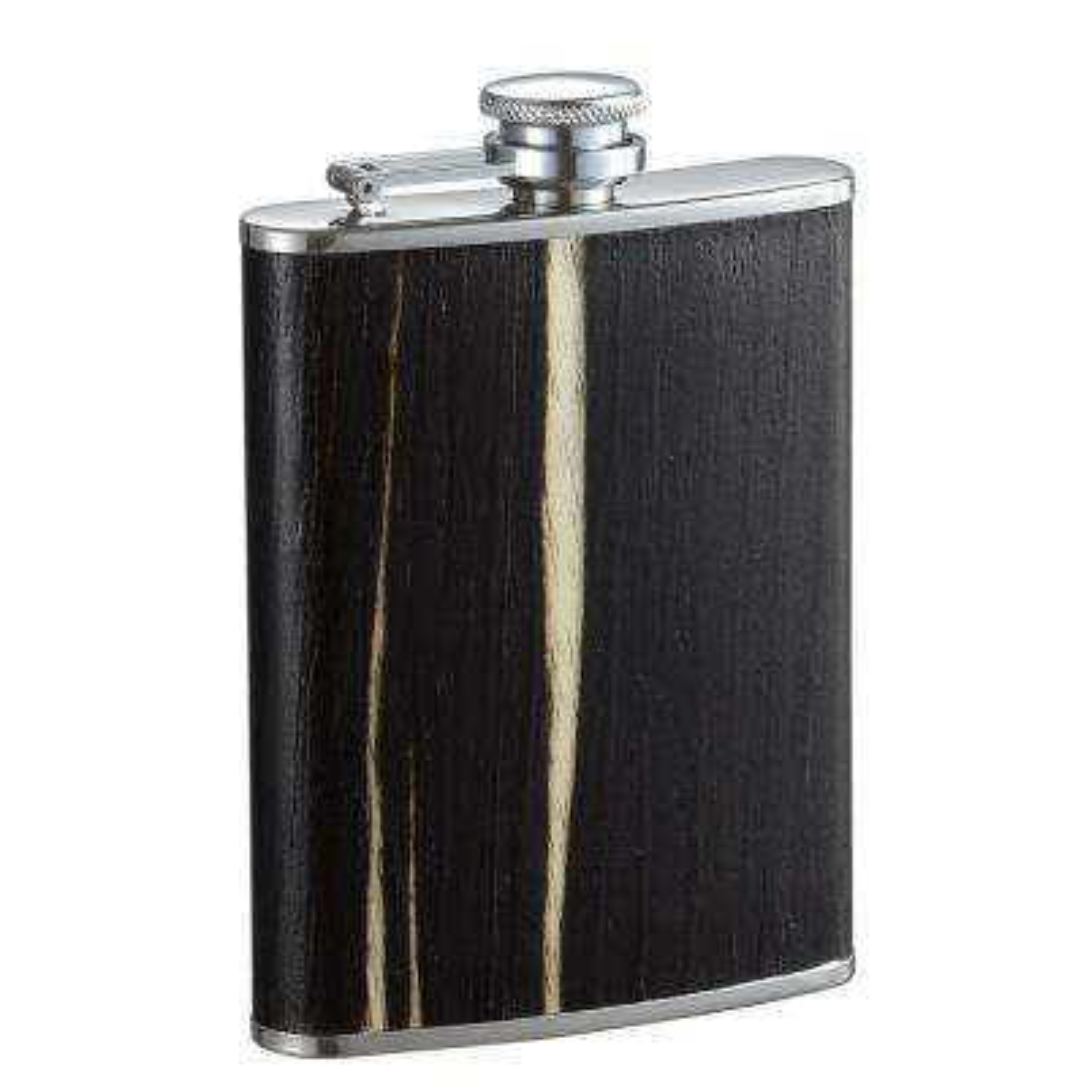 Bark Dark Wood Finish Liquor Flask