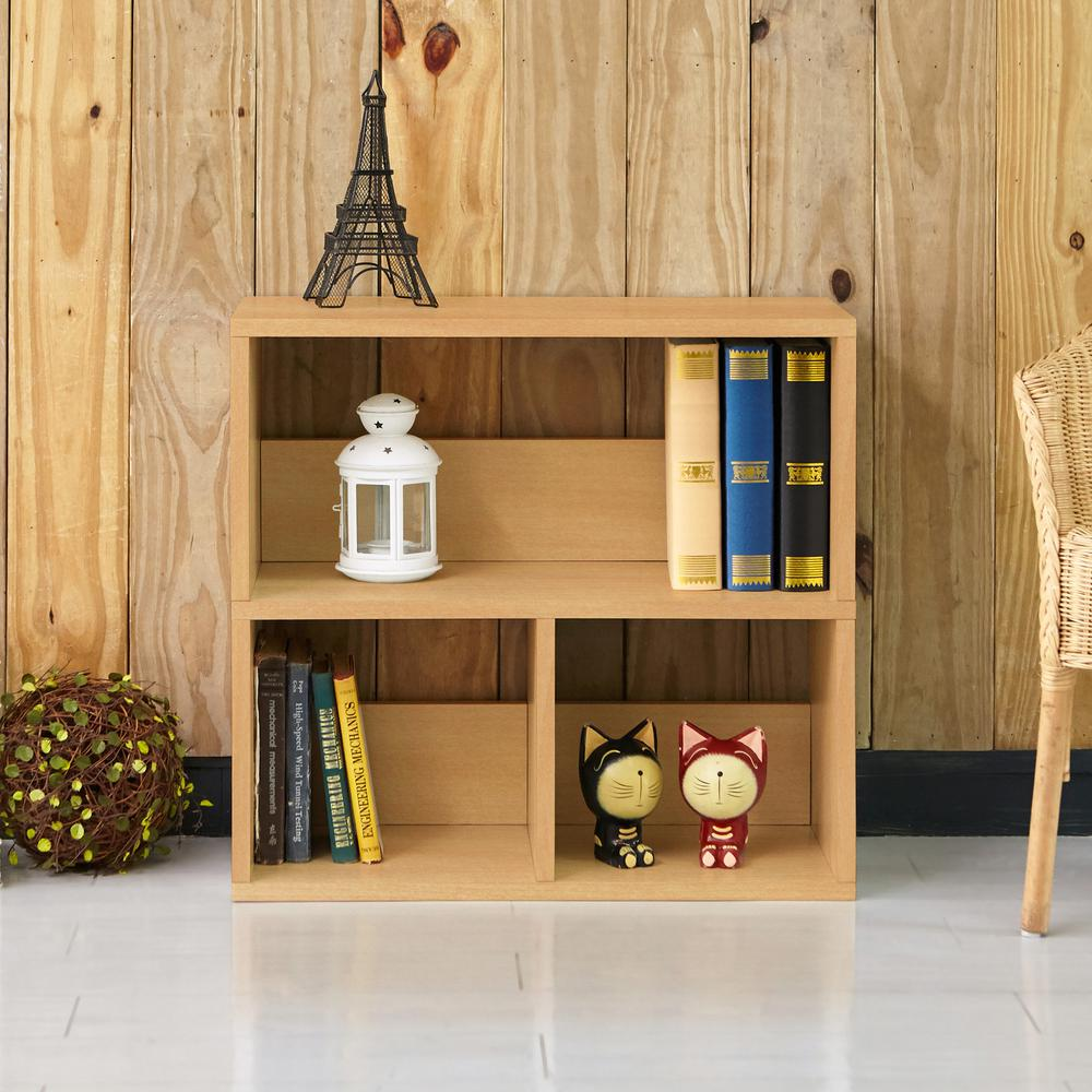 Collins Natural 2-Shelf Eco zBoard Stackable Tool-Free Assembly Bookcase Storage