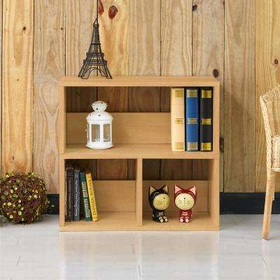 Collins Natural 2-Shelf Eco zBoard Stackable Tool-Free Assembly Bookcase Storage Organizer