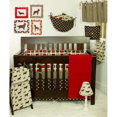 Houndstooth 55 in. L Cotton Valance in Brown Houndstooth