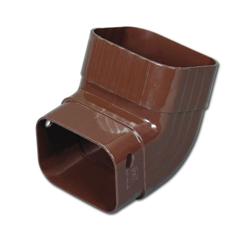 2 in. x 3 in. Brown Vinyl A-Elbow