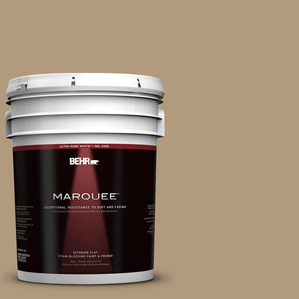 BEHR MARQUEE 5-gal. #UL170-3 Mission Hills Flat Exterior Paint, Browns/Tans