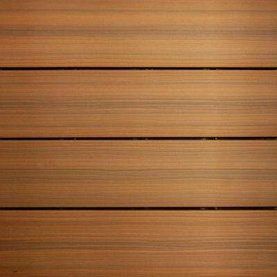 UltraShield 12 in. x 12 in. Peruvian Teak Outdoor Composite Quick Deck Tile (10 Tiles / Case)