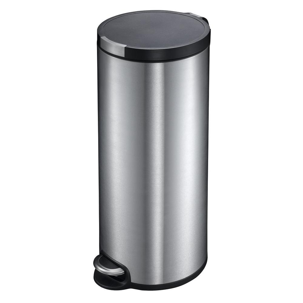 Household Essentials 8 Gal. Artistic Step Indoor Trash Can with Soft ...