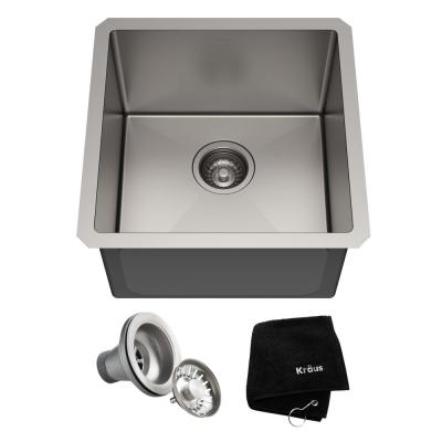 Standart PRO Undermount Stainless Steel 17 in. Single Bowl Bar Sink