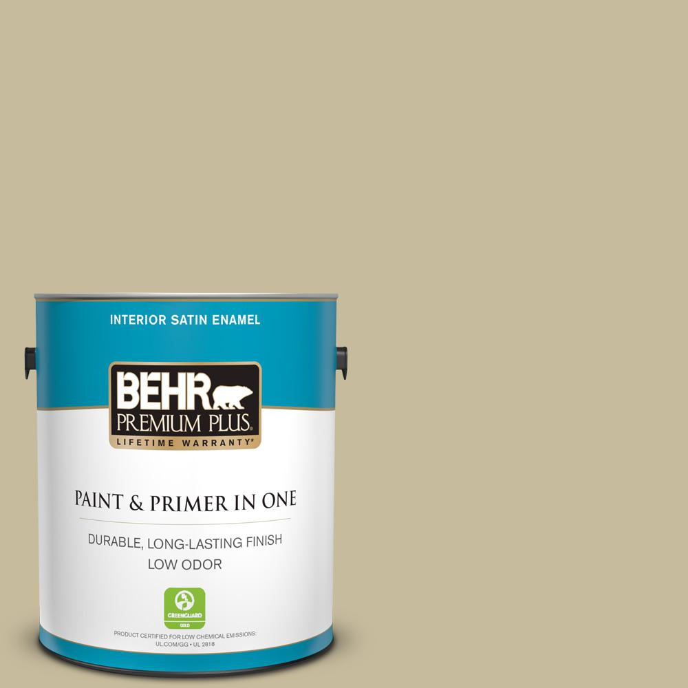 Reviews For Behr Premium Plus 1 Gal 760d 4 Lion Satin Enamel Low Odor Interior Paint And Primer In One 740001 The Home Depot