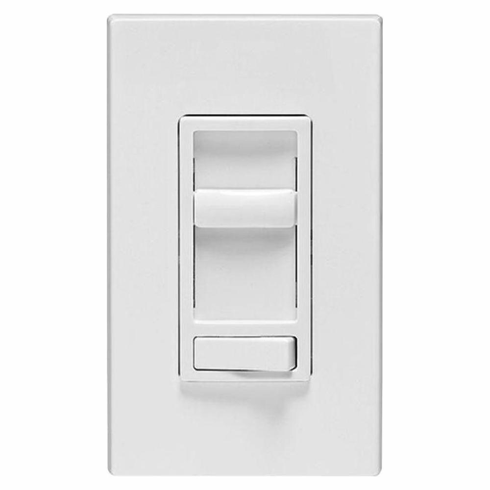SureSlide 600-Watt Single-Pole/3-Way Incandescent-CFL-LED Slide Dimmer, White (3-Pack)