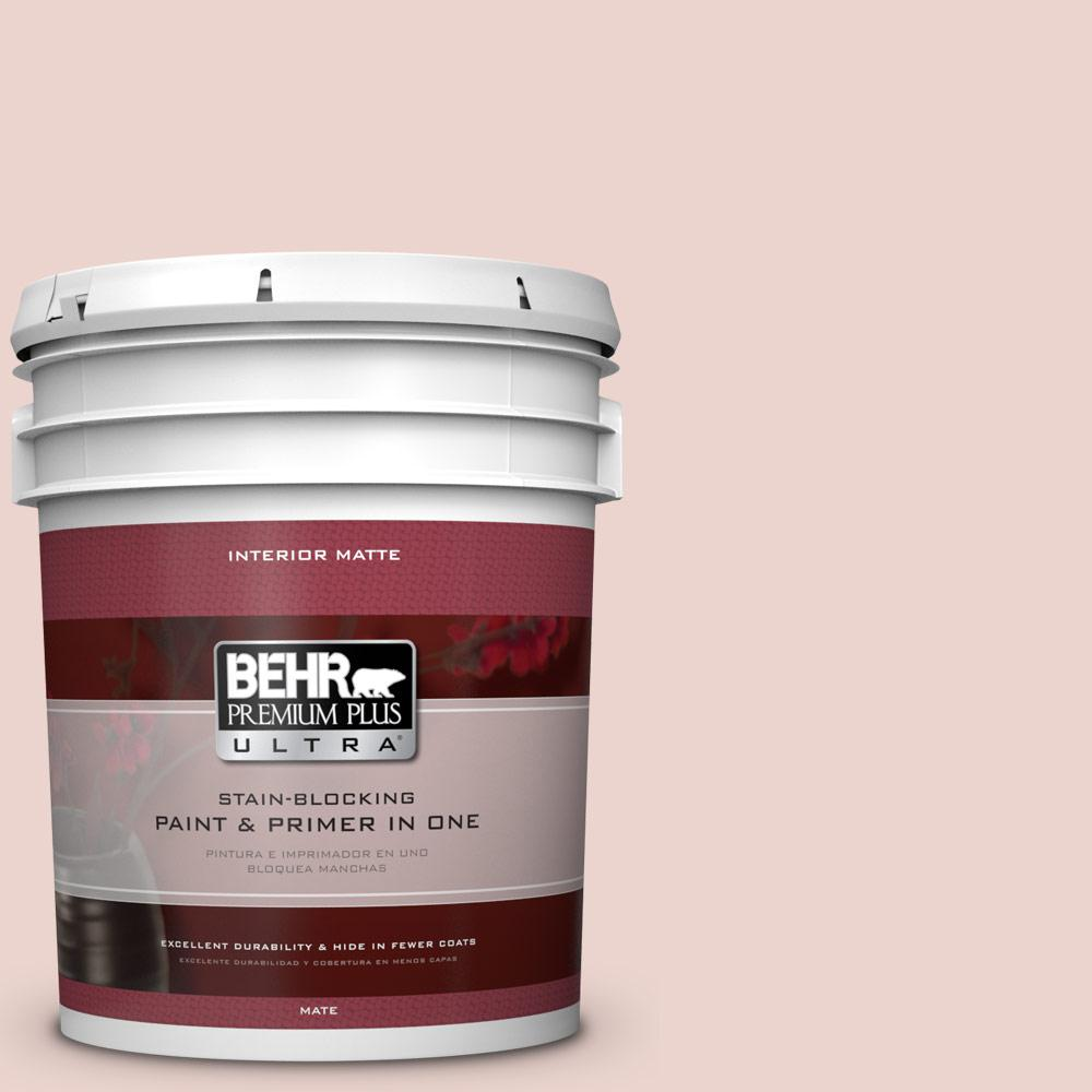 BEHR Premium Plus Ultra 5 gal. #S170-1 Ole Pink Matte Interior Paint and Primer in One