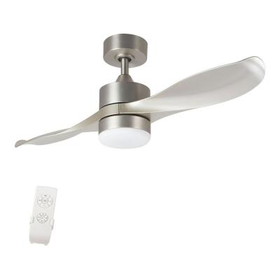 42 in. LED 2-Blade Brushed Nickel Ceiling Fan with Light Kit and Remote Control