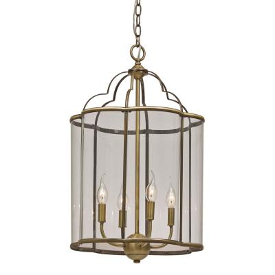 Landon 4-Light Antique Brass Pendant