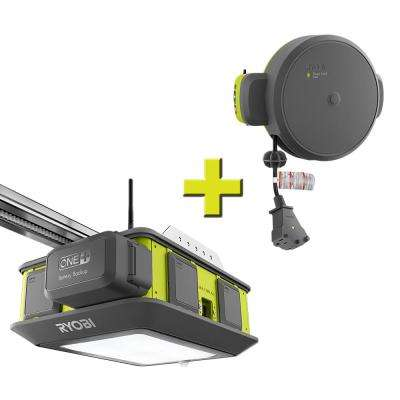 Ultra-Quiet 2 HP Belt Drive Garage Door Opener with Retractable Cord Reel Accessory